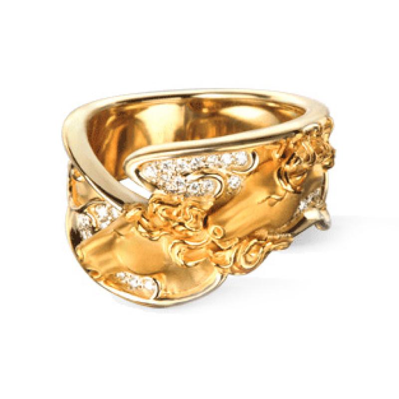 Кольцо Carrera y Carrera Ecuestre, желтое золото, бриллианты