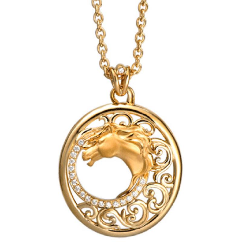 Подвеска Carrera y Carrera Ecuestre Caballo, желтое золото, бриллианты