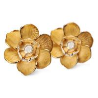 Серьги Carrera y Carrera Gardenias, желтое золото, бриллианты, хрусталь