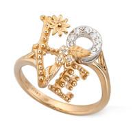 Кольцо Carrera y Carrera Love, белое, желтое золото, бриллианты