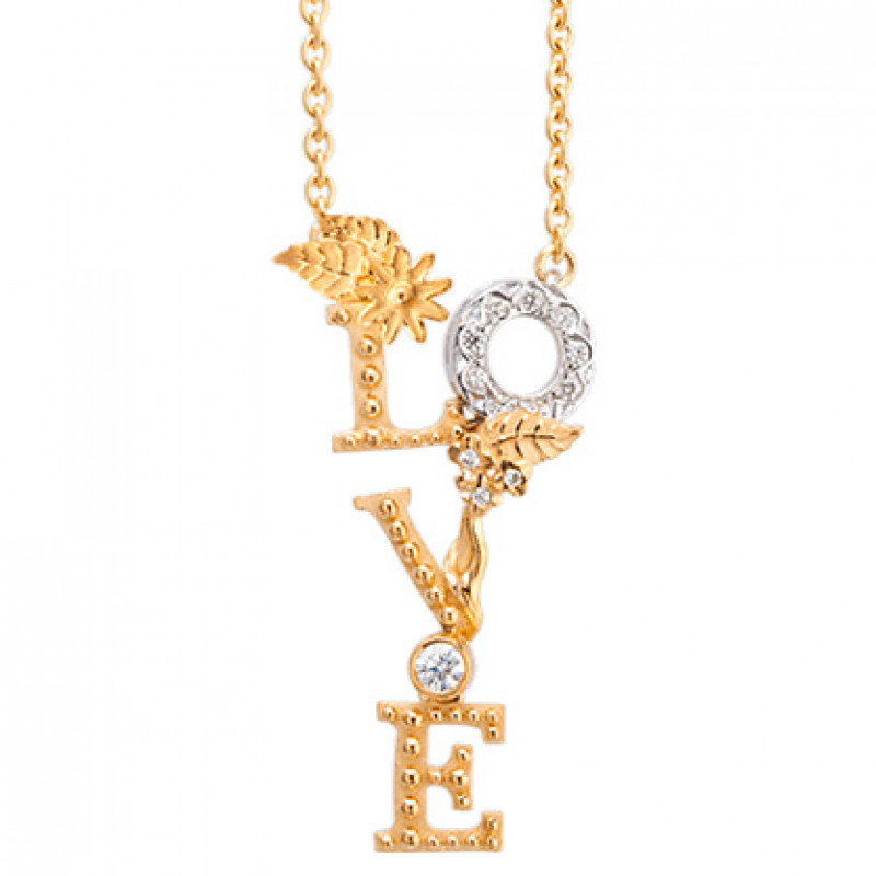 Колье Carrera y Carrera Love, белое, желтое золото, бриллианты