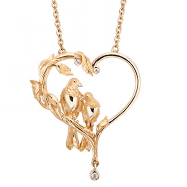 Колье Carrera y Carrera Love, желтое золото, бриллианты