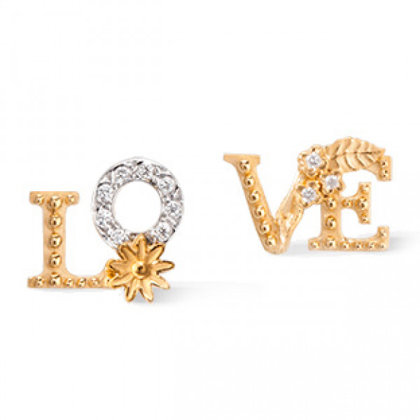 Серьги Carrera y Carrera Love, белое, желтое золото, бриллианты
