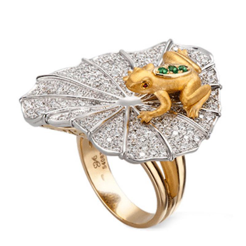 Кольцо Carrera y Carrera Mi Musa, белое, желтое золото, бриллианты