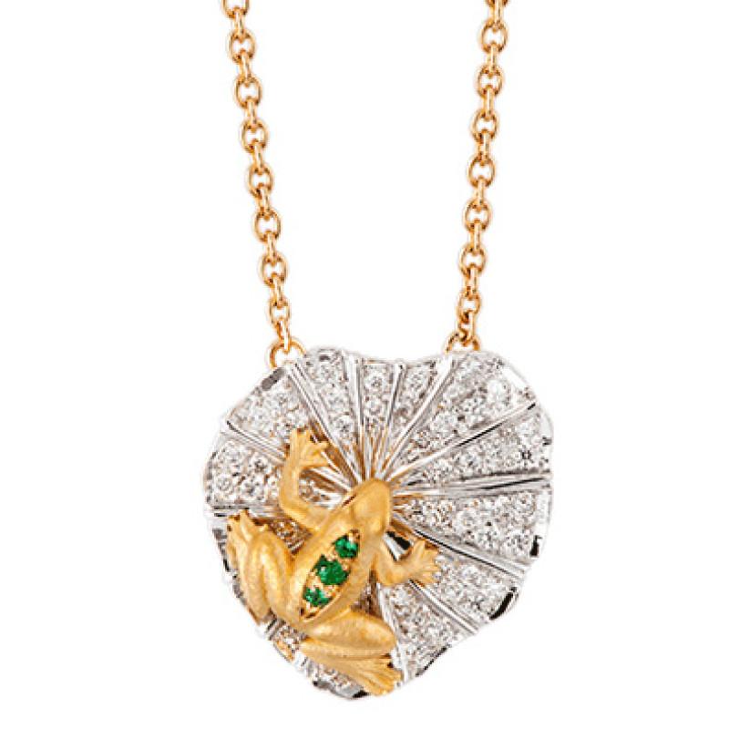 Колье Carrera y Carrera Mi Musa, белое, желтое золото, бриллианты
