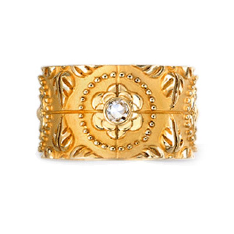 Кольцо Carrera y Carrera Mosaicos, желтое золото, бриллианты