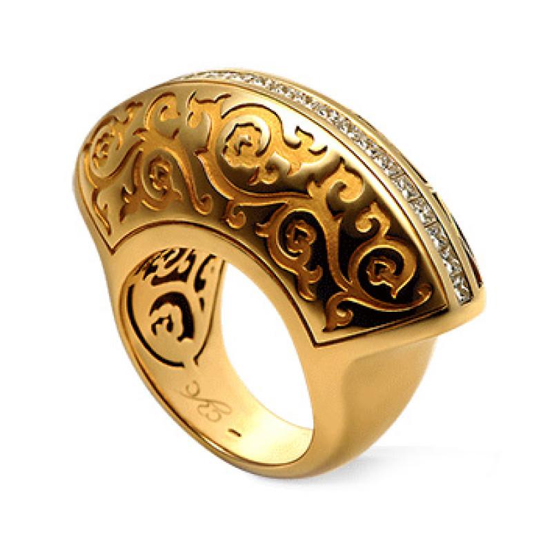 Кольцо Carrera y Carrera Cordoba, желтое золото, бриллианты
