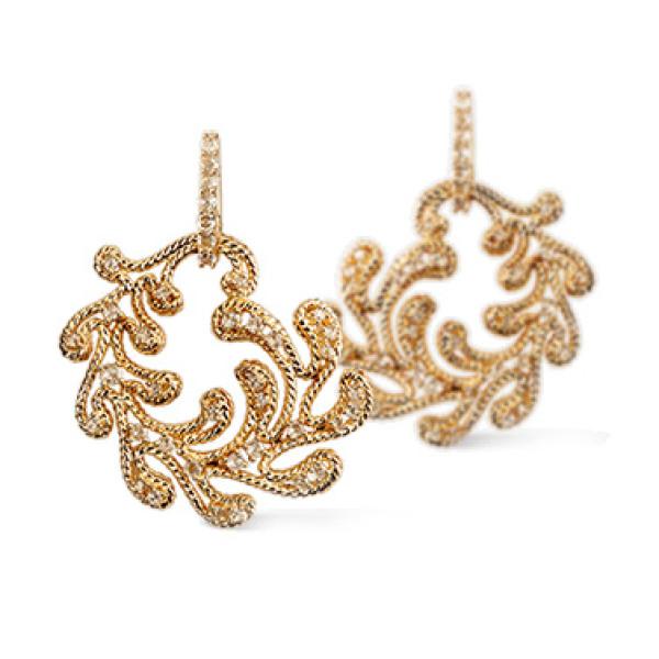 Серьги Carrera y Carrera Ruedo, желтое золото, бриллианты