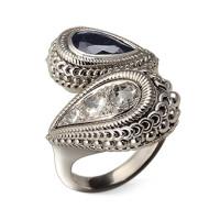 Кольцо Carrera y Carrera Ruedo, белое золото, бриллианты, сапфир