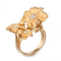 Кольцо Carrera y Carrera Emperatriz, желтое золото, бриллианты