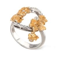 Кольцо Carrera y Carrera Emperatriz, желтое и белое золото, бриллианты