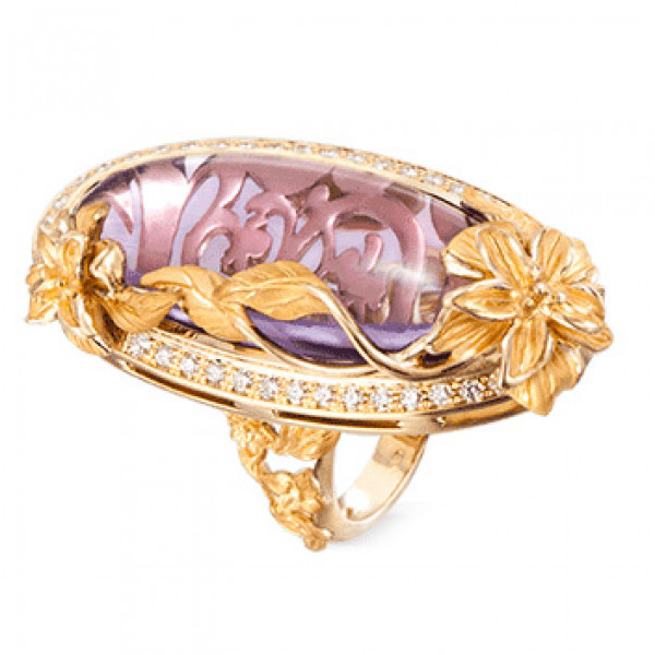 Кольцо Carrera y Carrera Emperatriz, желтое золото, бриллианты, аметист