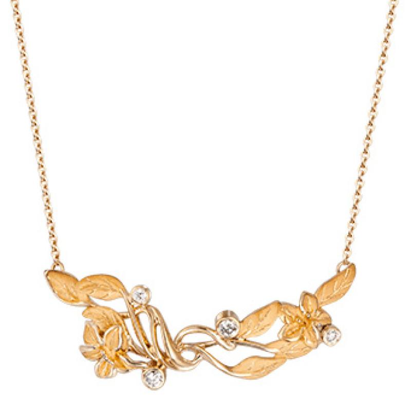 Колье Carrera y Carrera Emperatriz, желтое золото, бриллианты