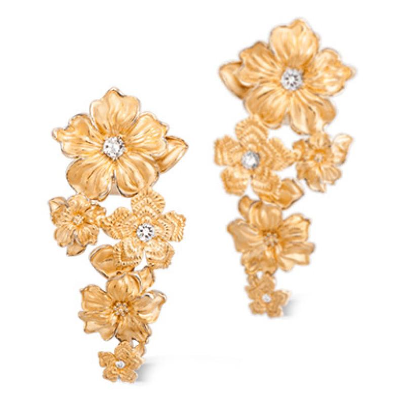 Серьги Carrera y Carrera Emperatriz, желтое золото, бриллианты