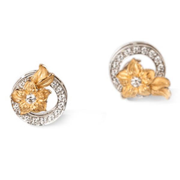 Серьги Carrera y Carrera Emperatriz, желтое, белое золото, бриллианты