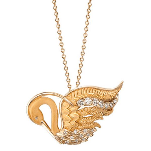 Колье Carrera y Carrera Garzas, желтое золото, бриллианты
