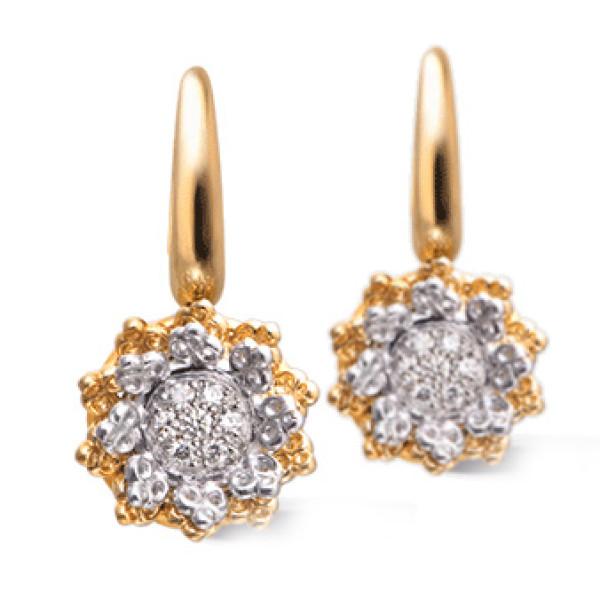 Серьги Carrera y Carrera Reina, желтое золото, бриллианты
