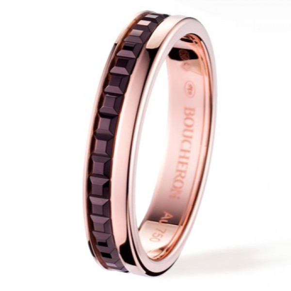 Кольцо Boucheron Quatre, розовое золото, PVD