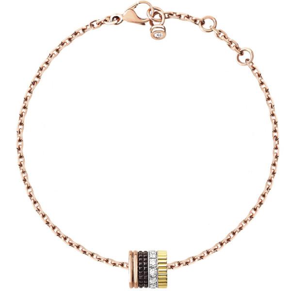Браслет Boucheron Quatre, белое, желтое, розовое золото, PVD, бриллианты
