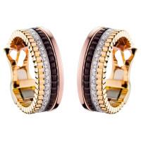 Серьги Boucheron Quatre, белое, желтое, розовое золото, PVD, бриллианты