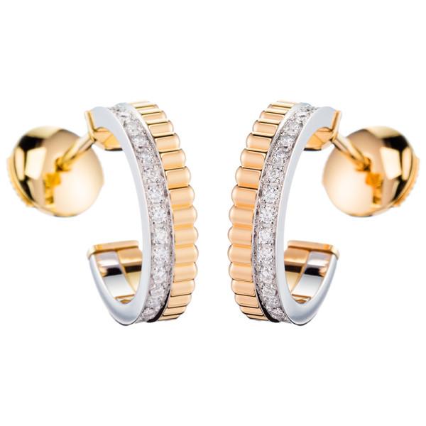 Серьги Boucheron Quatre, белое, желтое золото, бриллианты