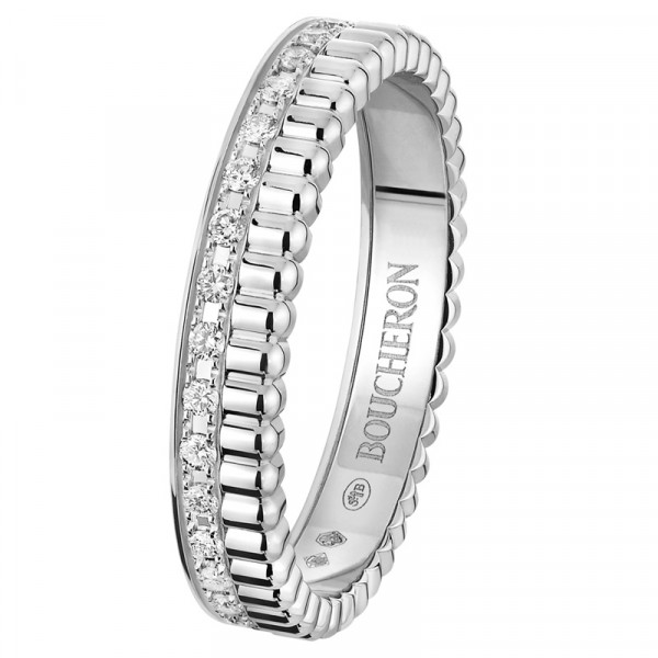 Кольцо Boucheron Quatre, белое золото, бриллианты
