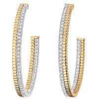 Серьги Boucheron Quatre, желтое, белое золото, бриллианты