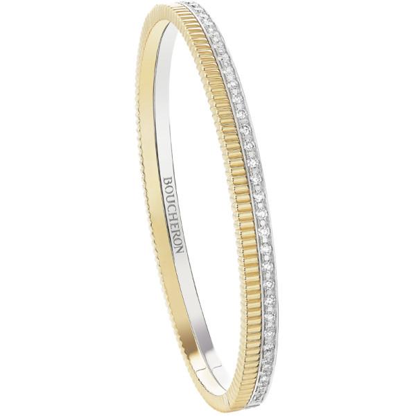 Браслет Boucheron Quatre, белое, желтое золото, бриллианты