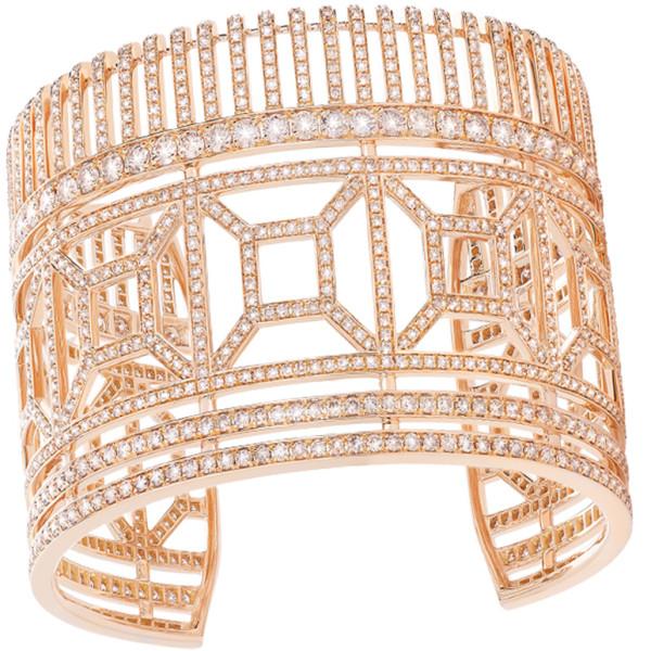 Браслет Boucheron Quatre, розовое золото, бриллианты