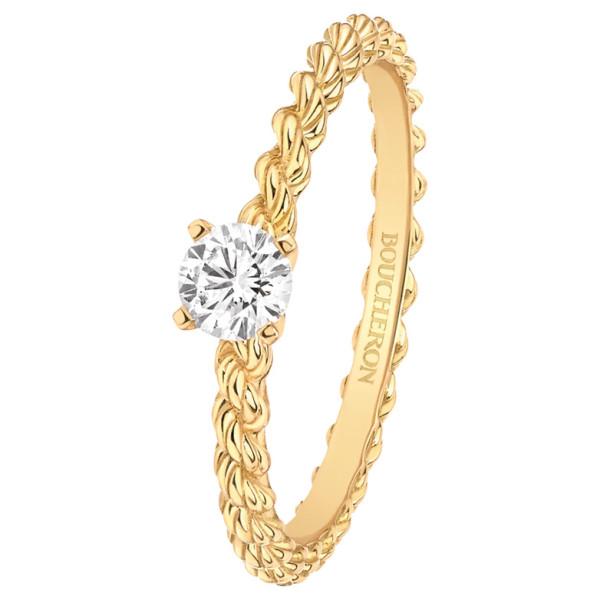 Кольцо Boucheron Serpent Boheme, желтое золото, бриллиант