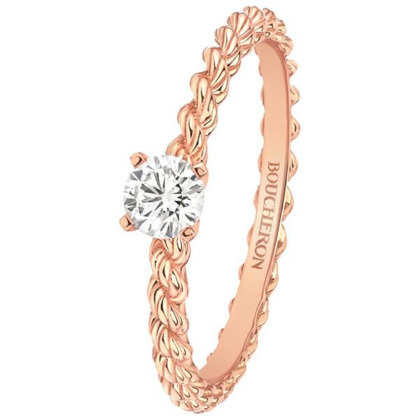 Кольцо Boucheron Serpent Boheme, розовое золото, бриллиант