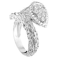 Кольцо Boucheron Serpent Boheme, белое золото, бриллианты