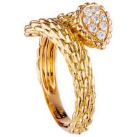 Кольцо Boucheron Serpent Boheme, желтое золото, бриллианты