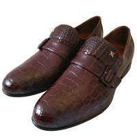 Туфли Artioli, бордовые, кожа крокодила