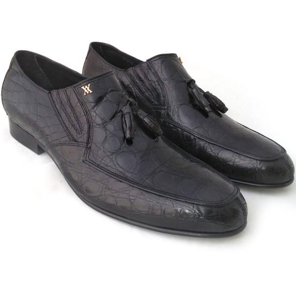 Туфли Artioli, черные, кожа крокодила