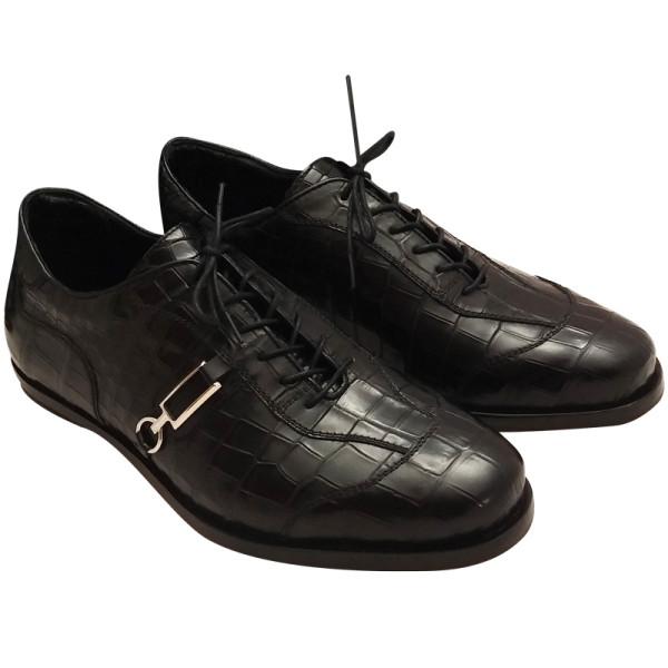 Туфли спортивные Zilli, кожа крокодила