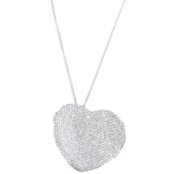 Кулон Pasquale Bruni Diamond Heart, белое золото, бриллианты