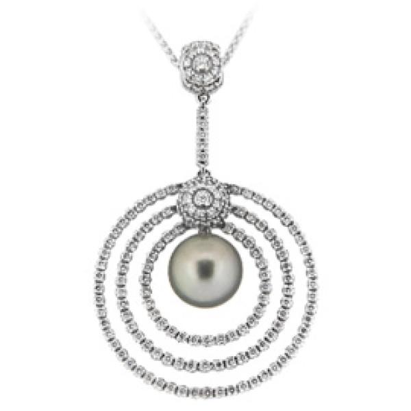 Подвеска H Stern, белое золото, бриллианты, жемчуг