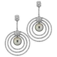 Серьги H Stern, белое золото, бриллианты, жемчуг