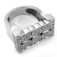 Кольцо Zancan, белое золото, бриллианты