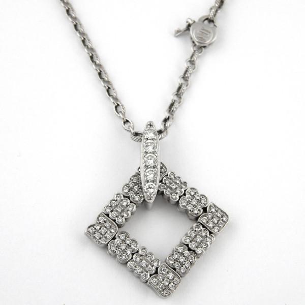 Подвеска Zancan, белое золото, бриллианты