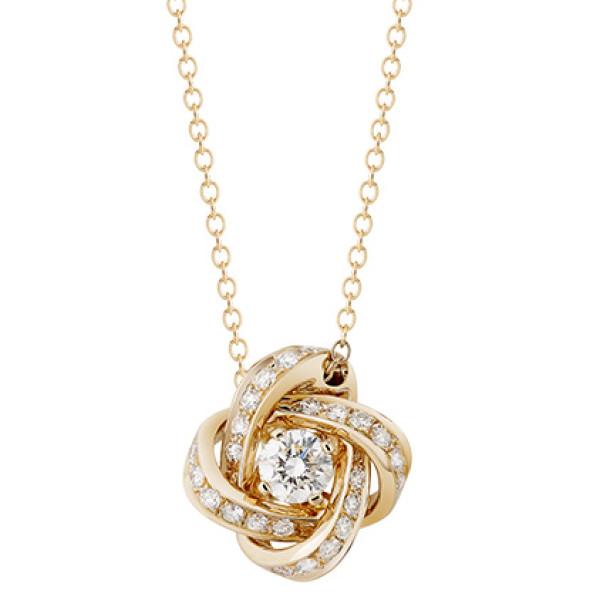 Подвеска Boucheron Pivoine, желтое золото, бриллианты