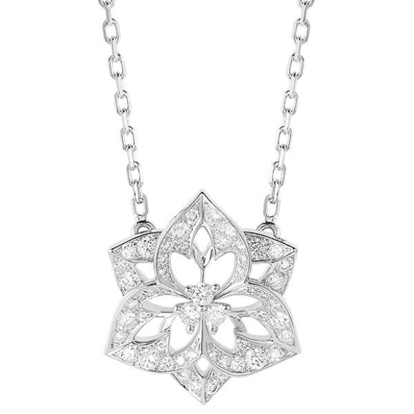 Подвеска Boucheron Pensee de Diamants, белое золото, бриллианты