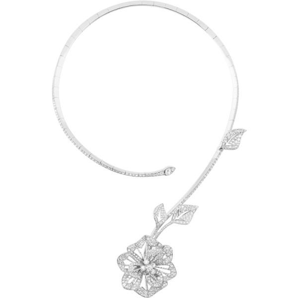 Колье Boucheron Pensee de Diamants, белое золото, бриллианты