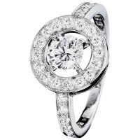 Кольцо Boucheron Ava, белое золото, бриллианты
