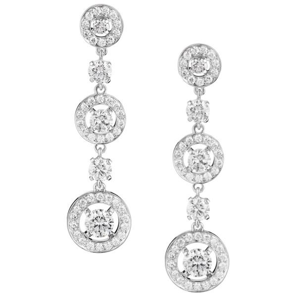 Серьги Boucheron Ava, белое золото, бриллианты
