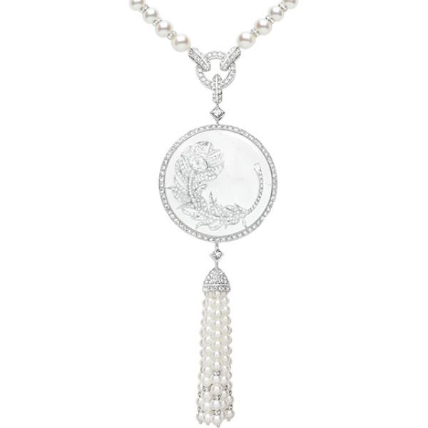 Колье Boucheron Animals Hera, белое золото, жемчуг, бриллианты