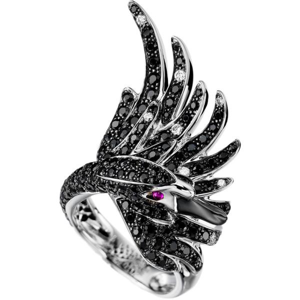Кольцо Boucheron Animals Cypris, белое золото, сапфиры, бриллианты