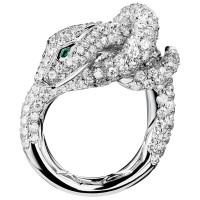 Кольцо Boucheron Animals Kaa, белое золото, бриллианты