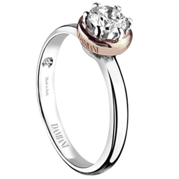 Кольцо Damiani с бриллиантом, белое золото
